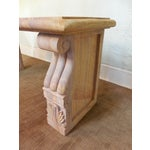 Image of Vintage Marble Neoclassical Garden Console Table