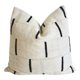 African Mudcloth Textile Pillow