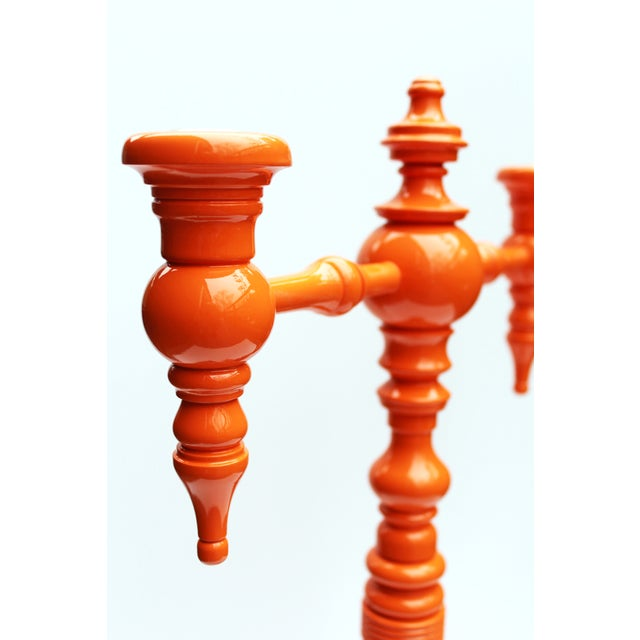 "Image of Dunes and Duchess ""Classique"" Candelabra in Orange"