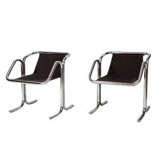 Jerry Johnson Tubular Chrome Dining Chairs