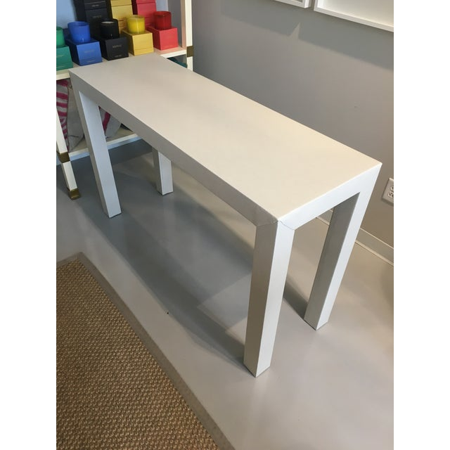 Upholstered Celine Parsons Table - Image 5 of 9