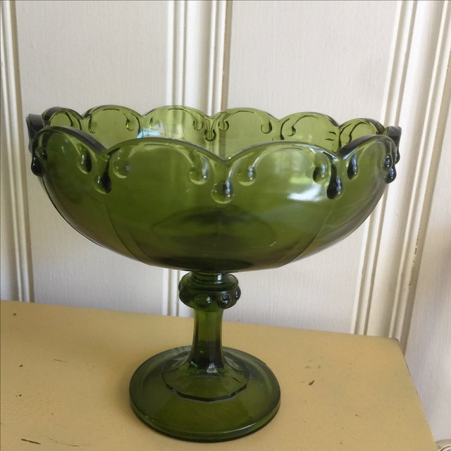 Vintage Green Glass Bowl - Image 3 of 9