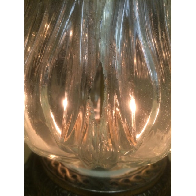 Vintage Brass & Crystal Lamps - Pair - Image 11 of 11