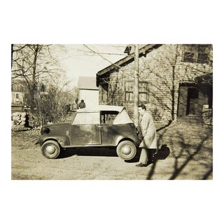 Crosley Convertible 1930s Photo Strongman Lifting Car