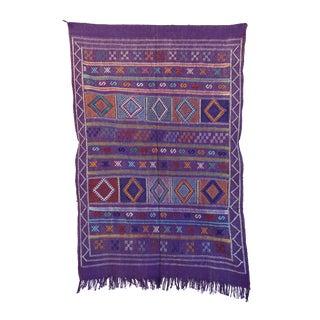 """Vintage Moroccan Cactus Silk Rug - 3'1"""" x 4'9"""""""