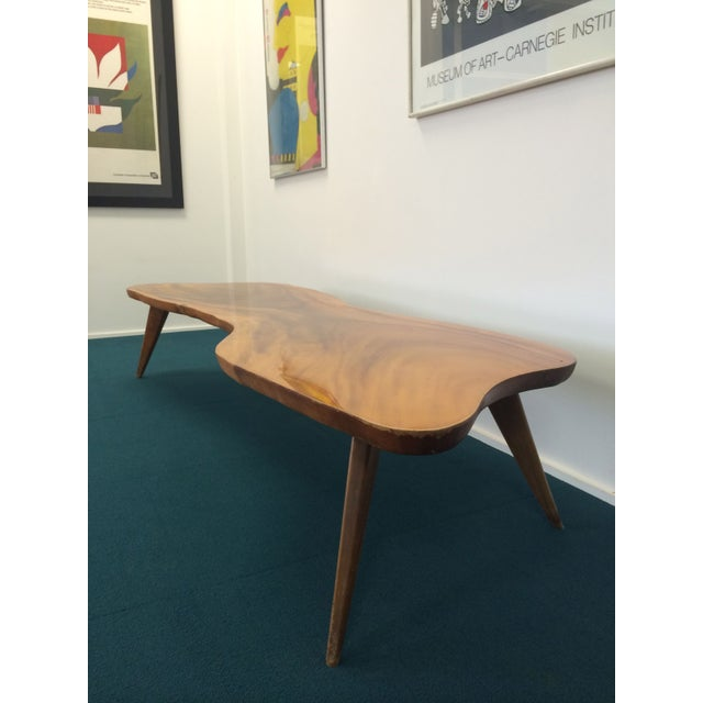 Image of Large Vintage Monkey Pod Wood Slab Coffee Table