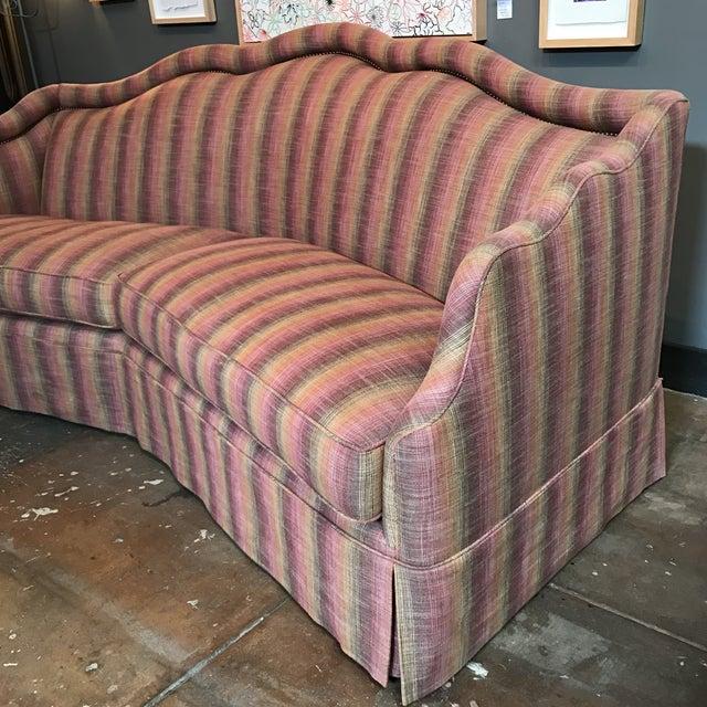 Custom Linen Sofa - Image 5 of 9