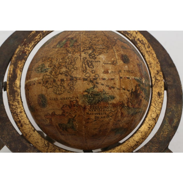 Italian Mini Old World Globe with Brass stand - Image 6 of 10