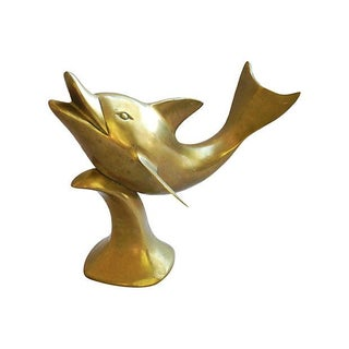 Large 1960s Brass Dolphin