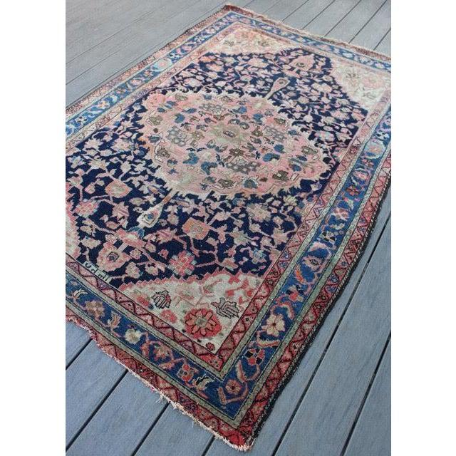"Antique Persian Sarouk Rug - 4'4"" x 6'4"" - Image 3 of 10"