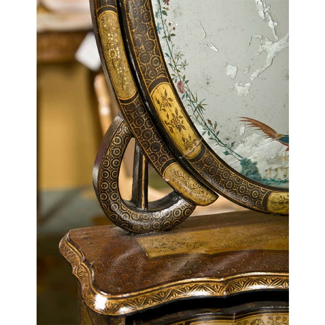 19th C. Oriental Vanity Table Mirror - Image 8 of 10