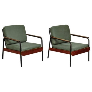 Pair of French Easy Chair After Jean Prouve, circa 1950