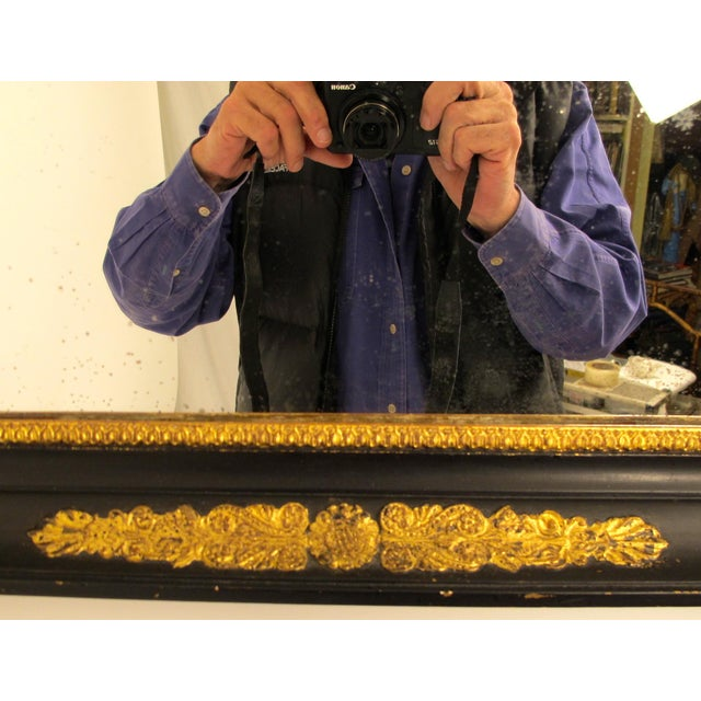 Black & Gold Empire Mirror - Image 5 of 6