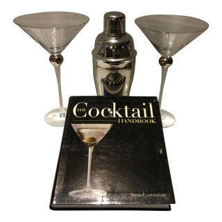 """Martinis for Two ""Book, Cocktail Shaker & 2 Glasses"