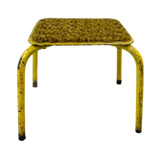 Industrial Yellow Stool Plant Stand Display
