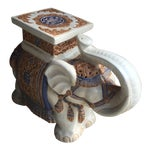 Image of Chinoiserie Ceramic Elephant Garden Stool