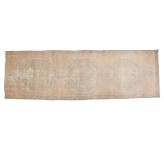 "Distressed Oushak Rug Runner - 3'5"" X 10'9"""