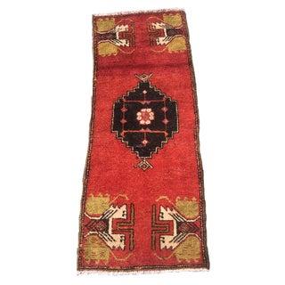 Vintage Anatolian Turkish Rug - 1′6″ × 4′