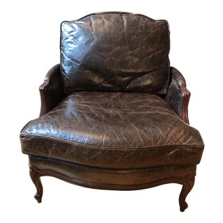 Ethan Allen Versailles Leather Chair