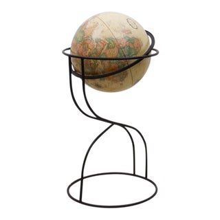 American Mid-Century Modern Globe, 1950s