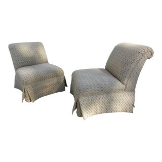 Baker Furniture Slipper Chairs -A Pair