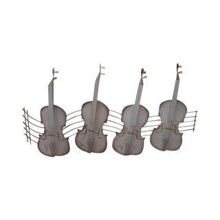 C. Jere Mid-Century Metal Cellos Wall Sculpture