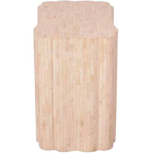 Bone Inlay Rectangular Side Table - Image 2 of 4