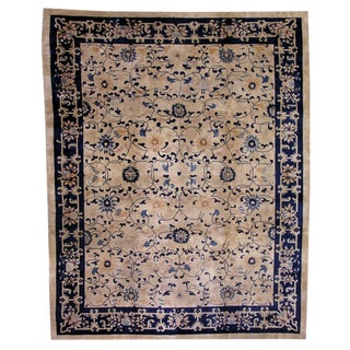 1900s Antique Chinese Hand Made Peking Rug- 8′10″ × 11′7″