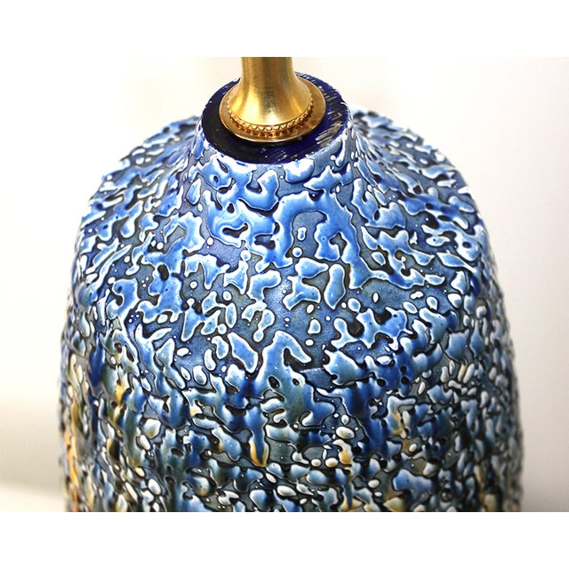 Mid-Century Modern Pottery Lamps - a Pair - Image 6 of 7