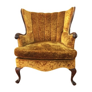 Vintage Channel Wingback Chair