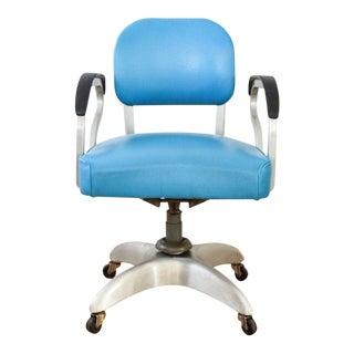 Mid Century Industrial Rolling Swivel Desk Chair