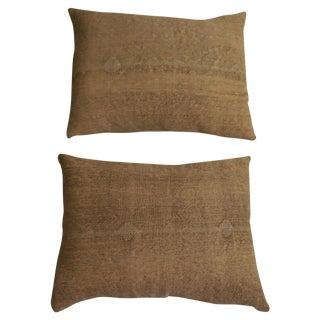 Rug Fragment Geometric Cream Pillow - Pair