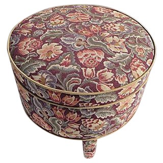Floral Tapestry Design Ottoman