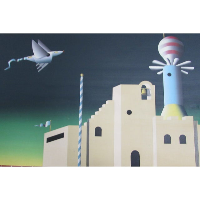 Industrial Age Surrealist Painting - Image 6 of 6