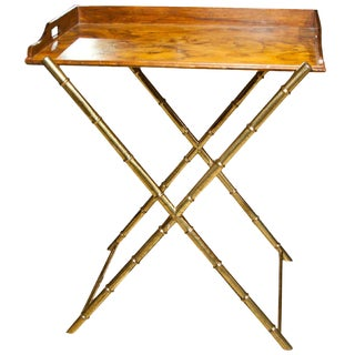Faux Bamboo Tray Top Table