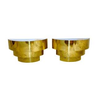 Three-Tier Brass Sconces - A Pair