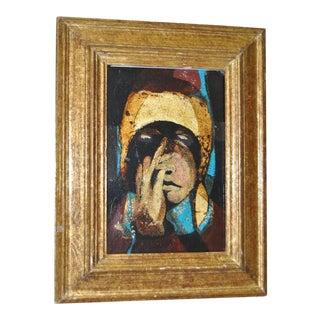 """Alfio Rapisardi """"Figura Firenze"""" Oil on Board, C.1966"""