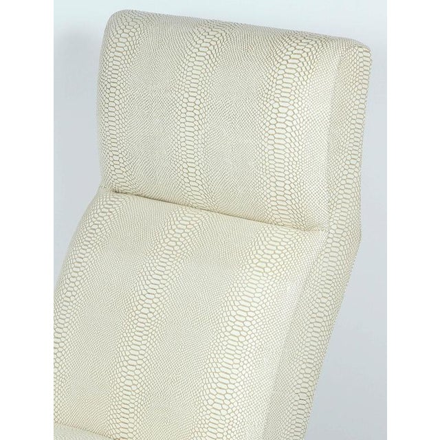 Paul Marra Slipper Chair in Brass with Faux Python - Image 8 of 10