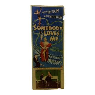 "Vintage ""Somebody Loves Me"" 1952 Movie Poster"