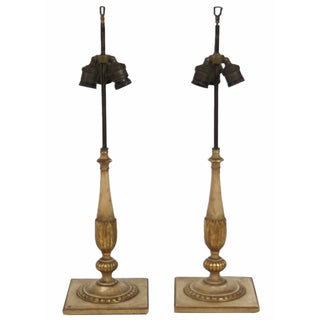 Jansen Louis XVI Style Gilt Lamps - A Pair