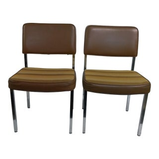 Steelcase Stripped Chairs - A Pair