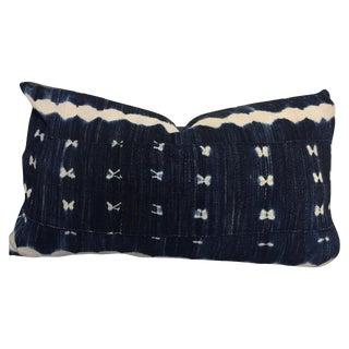 Vintage Indigo Mudcloth Lumbar Pillow