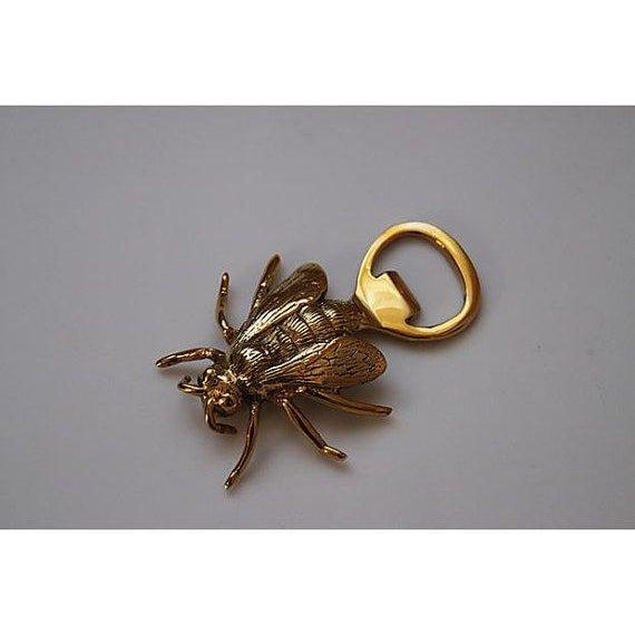 Image of Solid Brass Bee Bottle Opener