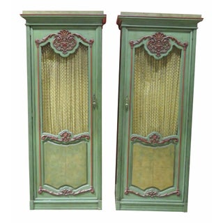 Italian Style Painted Cabinets - A Pair