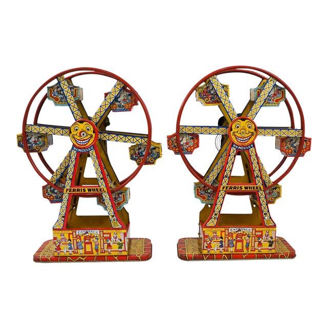Antique Hercules Ferris Wheels - A Pair - Image 1 of 8