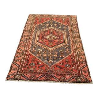 """Vintage Persian Hamadan Area Rug - 3'10""""x6'6"""""""