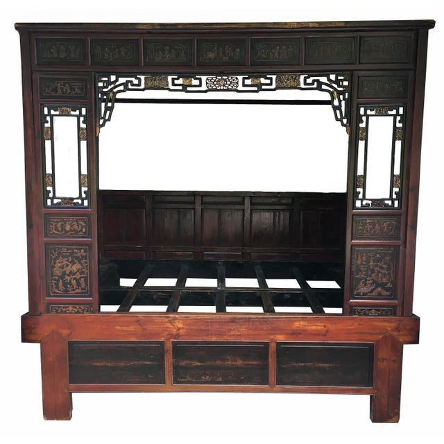 Antique Chinese Canopy Bed Chairish
