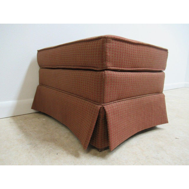 Vintage Ethan Allen Parsons Ottoman Stool - Image 7 of 9