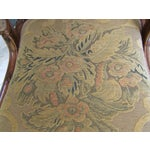 Image of Ornate Carved Wood And Brocade Accent Chair