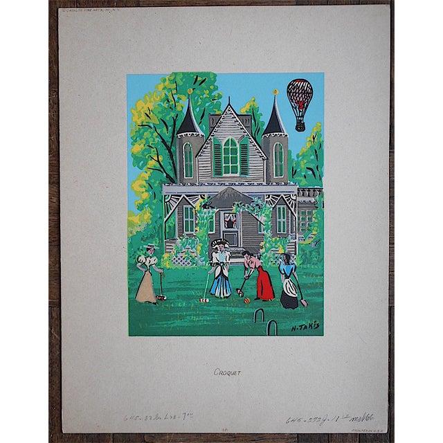 Image of Vintage Victorian Silkscreen Print